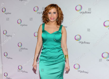 """Stock Photo of Fashion designer Cenia Paredes attends the P&G Orgullosa """"Skirts Only"""" fashion show on in New York"""