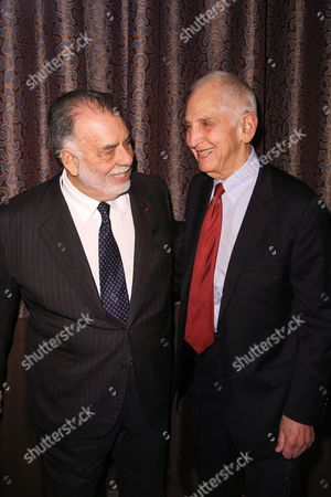 Francis Ford Coppola, left, and Daniel Ellsberg arrive at PEN Center USA's 25th Annual Literary Awards Festival at the Beverly Wilshire Hotel, in Beverly Hills, Calif