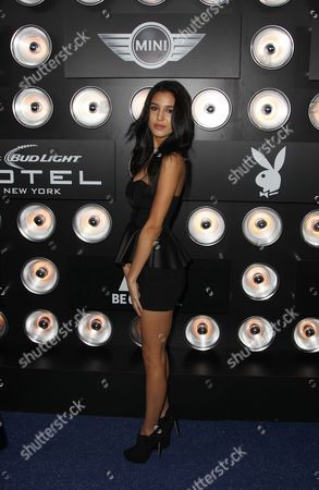 """Stock Picture of Ashley Sky is seen at """"Playboy Magazine Super Bowl Party"""" on in New York"""