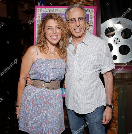 "Director Kristin Hanggi and executive producer Jerry Zucker attend the red carpet at the premiere of ""Dear Dumb Diary"" at the Crest Theater on in Los Angeles"