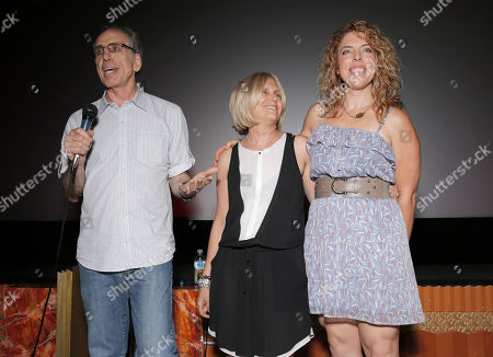 "Executive Producer Jerry Zucker, Executive Producer Janet Zucker and Director Kristin Hanggi arrive on the red carpet at the premiere of ""Dear Dumb Diary"" at the Crest Theater on in Los Angeles"