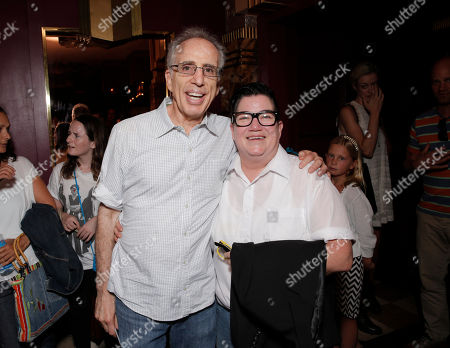 "Executive Producer Jerry Zucker and Lea DeLaria arrive on the red carpet at the premiere of ""Dear Dumb Diary"" at the Crest Theater on in Los Angeles"
