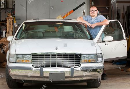 Twenty-one-year-old Ryan Harris of North Carolina is the winner of Rodney Dangerfield's 1994 Cadillac Fleetwood at [VENUE if its somewhere noteable] on in Kernersville, N.C. Harris won the car by entering a contest on www.rodney.com