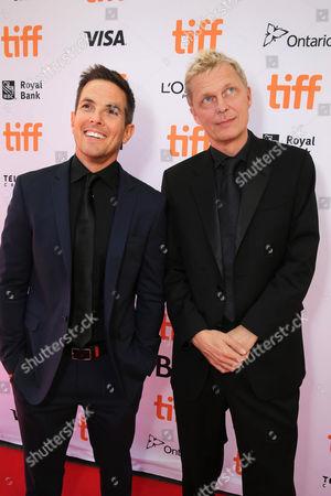"Steven Gizicki and Marius de Vries seen at Summit Entertainment's ""La La Land"" premiere at the 2016 Toronto International Film Festival, in Toronto"