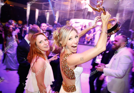 Maureen Timpa, left, and Tava Smiley attend the Governors Ball for the Television Academy's Creative Arts Emmy Awards at LA Convention Center, in Los Angeles