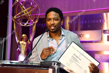 Joe Robert Cole is seen at the Television Academy's 2016 Emmy Awards Writer's Nominee Reception at The Television Academy's Wolf Theatre on in North Hollywood, California