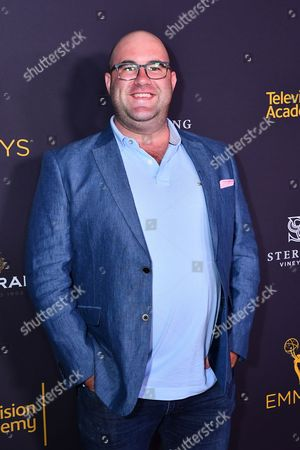 Stock Picture of Charlie Sanders is seen at the Television Academy's 2016 Emmy Awards Writer's Nominee Reception at The Television Academy's Wolf Theatre on in North Hollywood, California