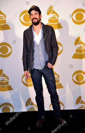 Stock Photo of Country Artist Rhett Walker of the Rhett Walker Band poses for a photo backstage at the Grammy Nominations Concert Live! at Bridgestone Arena, in Nashville, Tenn