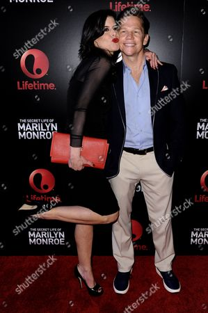 "Executive Producer Keri Selig, left, and actor Jack Noseworthy arrive at the World Premiere of ""The Secret Life of Marilyn Monroe"" held at The Theatre at Ace Hotel, in Los Angeles"