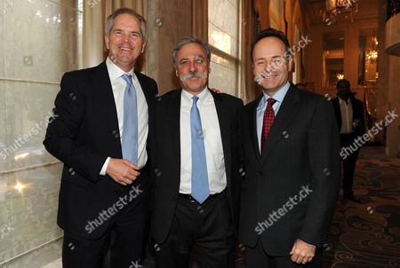 EXCLUSIVE - From left, Randy Freer, President and COO of Fox Sports Media Group, Chase Carey, President, COO, and Deputy Chairman of News Corporation, and President of FX John Landgraf attend the 2014 Television Academy Hall of Fame, at the Beverly Wilshire in Beverly Hills, Calif