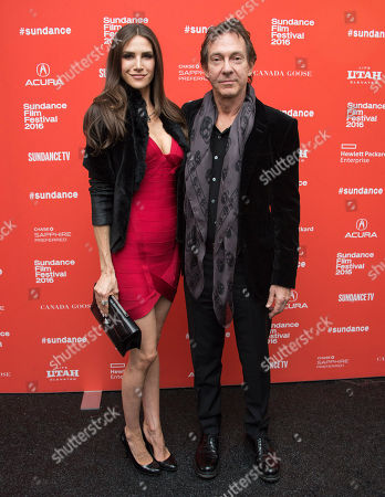 """Jenna Hurt and John Branca pose during the premiere of """"Michael Jackson's Journey From Motown to Off the Wall"""" during the 2016 Sundance Film Festival, in Park City, Utah"""