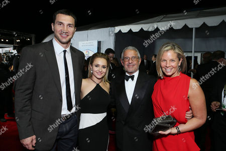"""Wladimir Klitschko, Hayden Panettiere, Universal's Ron Meyer and Kelly Meyer seen at the 71st Annual Golden Globe Awards â?"""" NBC/Universal/Focus Features/E! Entertainment/Chrysler After Party on in Los Angeles"""