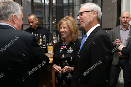 Abbe Raven, left, and husband Martin Tackel attend A+E Networks celebration of chairman emeritus Abbe Raven at the Andaz Fifth Avenue, in New York
