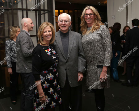 From left, Abbe Raven, Nick Davatzes, former CEO of A+E, CEO of A+E Networks, Nancy Dubuc attend A+E Networks celebration of chairman emeritus Abbe Raven at the Andaz Fifth Avenue, in New York