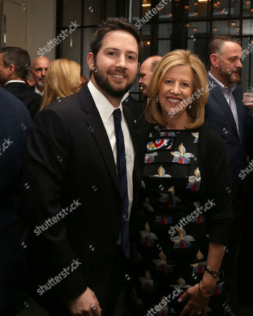 Abbe Raven, right, and son David Tackel attend A+E Networks celebration of chairman emeritus Abbe Raven at the Andaz Fifth Avenue, in New York