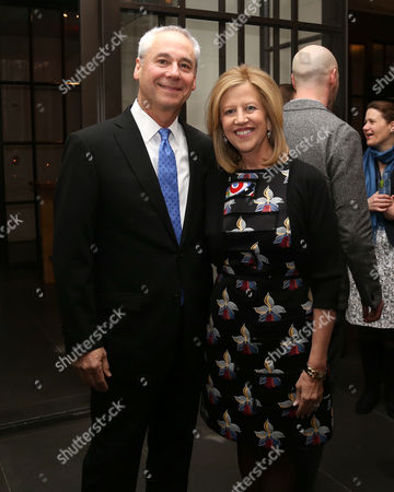 Abbe Raven, right, and husband Martin Tackel attend A+E Networks celebration of chairman emeritus Abbe Raven at the Andaz Fifth Avenue, in New York