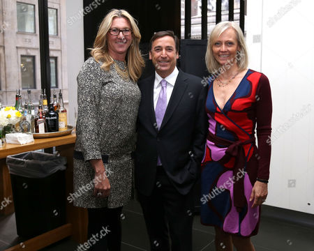 From left, A+E CEO Nancy Dubuc, CEO Horizon Media, Bill Koenigsberg and wife Jessica Koenigsberg attend A+E Networks celebration of chairman emeritus Abbe Raven at the Andaz Fifth Avenue, in New York