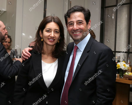 Robert Sharenow, Executive Vice President A+E Networks, and wife Stacey Creem attend A+E Networks celebration of chairman emeritus Abbe Raven at the Andaz Fifth Avenue, in New York