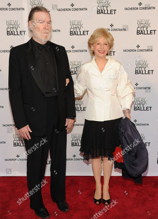 Stock Image of Journalist Lesley Stahl and husband journalist Aaron Latham attend the New York City Ballet Spring Gala at Lincoln Center on in New York