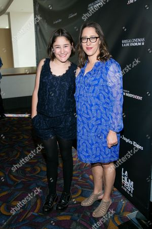 """Imogene Wolodarsky, left, and director Maya Forbes attend the Los Angeles Premiere of """"Infinitely Polar Bear"""" held at Regal Cinemas L.A. LIVE, in Los Angeles"""