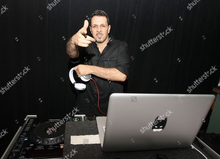 Stock Picture of DJ Tony Touch is seen at Hennessy V.S.O.P Celebrates Hamilton's 1st Week of performances on Broadway at URBO, in New York