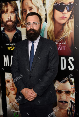 """Jared Hess, director of """"Masterminds,"""" poses at the premiere of the film at the TCL Chinese Theatre, in Los Angeles"""