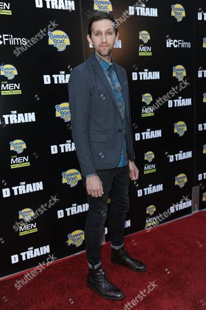 """Stock Picture of Andrew Dost arrives at the LA Premiere of """"The D Train"""" held at Arclight Cinemas - Hollywood, in Los Angeles"""