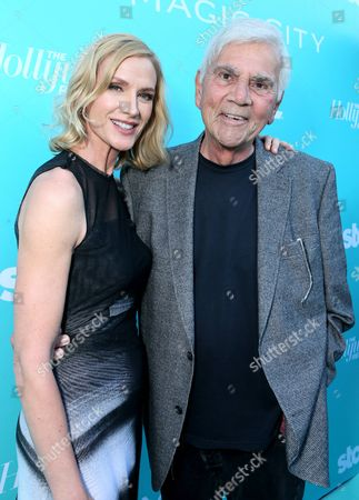 """Kelly Lynch, left, and Alex Rocco arrive at the """"Magic City"""" season 2 premiere at the American Film Institute, in Los Angeles"""
