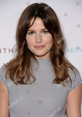 """Actress Rachael Emrich attends the premiere of """"Testament of Youth"""" at the Bow Tie Chelsea Cinemas, in New York"""