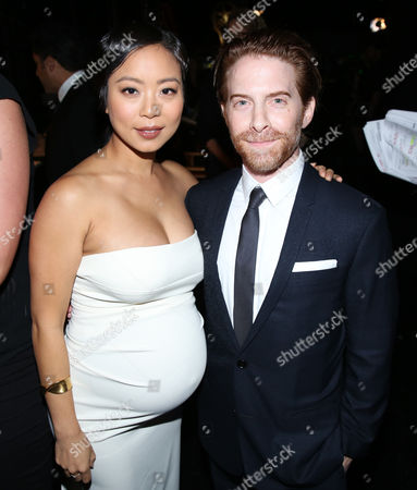 Michelle Ang, left, and Seth Green attend night two of the Television Academy's 2016 Creative Arts Emmy Awards at the Microsoft Theater on in Los Angeles