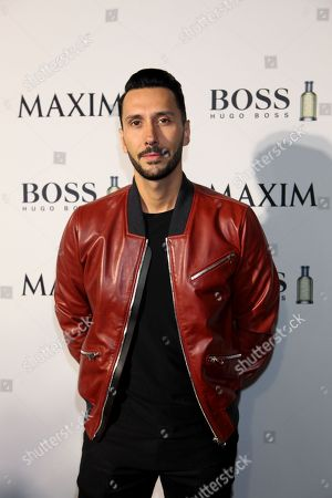 Cedric Gervais arrives at The Maxim Party with HUGO BOSS Parfums to celebrate Super Bowl XLIX on in Scottsdale, Ariz