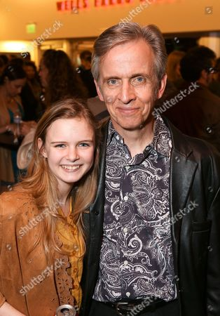 "From left, cast members Brighid Fleming and Robert Joy pose during the party for the world premiere of ""The Nether"" at Center Theatre Group's Kirk Douglas Theatre on in Culver City, Calif"