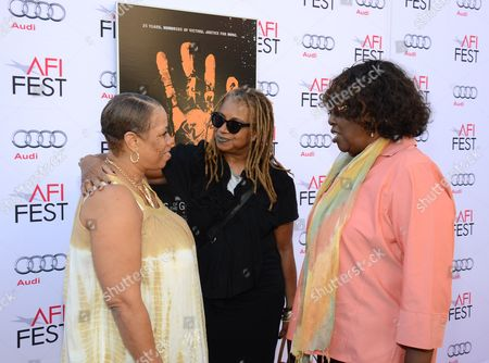 """Pamela Brooks, Margaret Prescod, and LaVerne Butler seen at 2014 AFI Fest - """"Tales Of The Grimm Sleeper"""" - Arrivals at The Egyptian Theatre, in Los Angeles, Calif"""