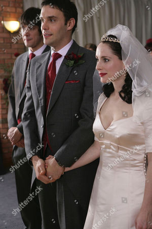'Talk to Me'   TV Pictured:  L-R   Scott, the Bestman [Adrian Bower], Woody [Joseph Millson] and Claire [Laura Fraser].  Woody Unveils His Beautiful Bride