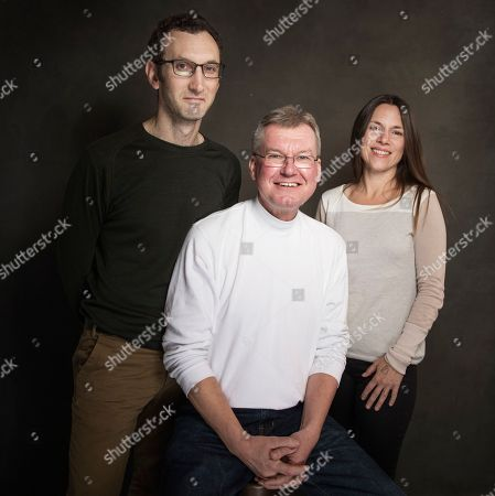 From left, Jesse Moss, Jay Reinke and Amanda McBaine pose for a portrait at Quaker Good Energy Lodge with GenArt and the Collective, during the Sundance Film Festival, on in Park City, Utah