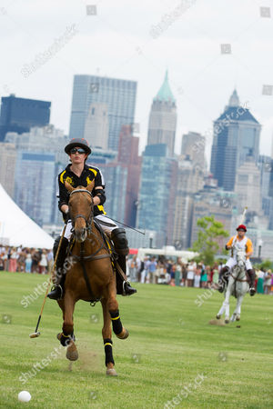 Hilario Figueras plays in the Veuve Clicquot Polo Classic at Liberty State Park on in Jersey City, N.J