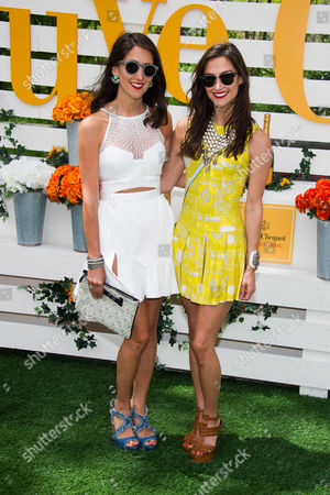 Danielle Snyder and Jodie Snyder attend the Veuve Clicquot Polo Classic on in Jersey City, N.J