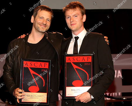 """Dr Luke and Cirkut recipients of the ASCAP Pop song award for """"Good Feeling"""" are seen at the 30th Annual ASCAP Pop Music Awards,, at Loews Hollywood Hotel in Hollywood, California"""