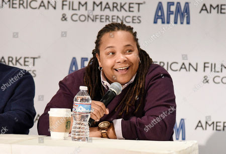 Writer/Director Tina Mabry speaks at the American Film Market Roundtable Making an Impact: How Telling LGBT Stories Can Pay Off at the Loews Santa Monica Beach Hotel, in Santa Monica, Calif