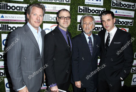 From left, Ross Levinsohn, Bill Werde, Neil Portnow, and Tommy Page pose together at Billboard's 2013 Power 100 List event at The Redbury on in Los Angeles