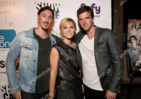 "Eric Balfour, Emily Rose and Lucas Bryant attend the Entertainment One ""Haven"" Party at Comic Con 2012 on in San Diego, CA"