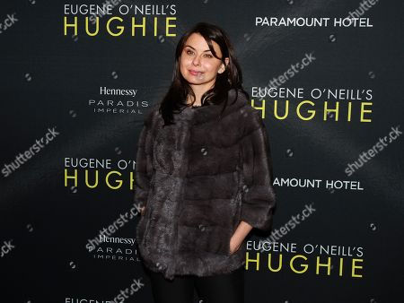 """Stock Image of Actress Oksana Lada is seen at Hennessy Prestige presents Opening Night of Eugene O'Neill's """"Hughie"""" at the Booth Theater on in New York"""