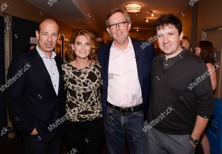 """From left to right, co-creator Howard Gordon, executive producer Meredith Stiehm, co-creator Alex Gansa, and executive producer Alex Cary at the Fox 21 and Showtime """"Homeland"""" Emmy writer's panel and discussion on in Los Angeles"""