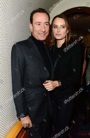 Robert Hanson and Masha Markova seen at the Johnnie Walker Blue Label and David Gandy Partnership Launch Party at Annabel's, Berkeley Square, in London