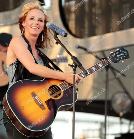 Country music singer songwriter Kristen Kelly performs at Harrington Raceway and Casino, in Harrington, Del