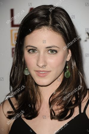 """Stock Image of Remy Nozik arrives at the LA Film Festival premiere of """"Goodbye World"""" at Regal Cinemas on in Los Angeles"""