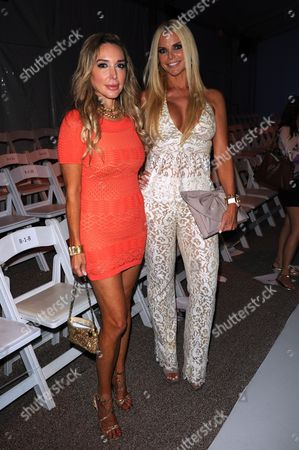 MIAMI, FL - JULY 21: Marysol Patton and Alexia Echeverria appear at the Mara Hoffman Swim show during Mercedes-Benz Fashion Week Swim 2013 at The Raleigh on in Miami, Florida