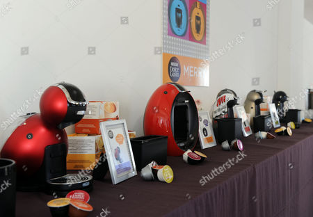 NESCAFE Dolce Gusto unveils their new collection of single serve coffee machines at their holiday entertaining event hosted by mixologists Alie Ward and Georgia Hardstark in New York