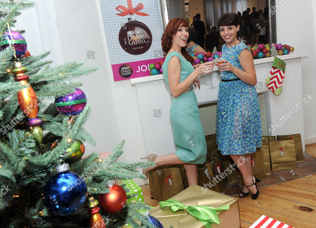 Mixologists and Cooking Channel stars Alie Ward, left and Georgia Hardstark host the NESCAFE Dolce Gusto holiday entertaining event in New York