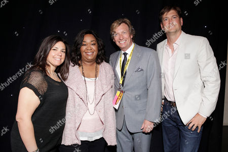 SallyAnn Salsano, Shonda Rhimes, Nigel Lythgoe and Bill Lawrence attend the Produced By Conference Day 1 on in Culver City, Calif
